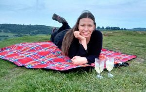 Picnic and cocktails on Cam Peak