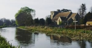 St. Cyr's Church on Stroudwater Canal