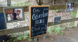 Our Adventure Begins, wedding sign
