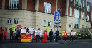Labour supporters in Stroud during the general election