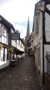 Tudor street in Ledbury