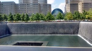 Cascading pools in the footprint of the World Trade Center