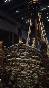 The Vasa's ornately carved stern castle.