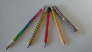 An array of pencils
