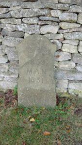Gravestone reading: 1859 M.A.N. 1831.
