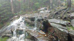 Waterfalls alongside the trail