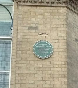 Plaque honouring literary history