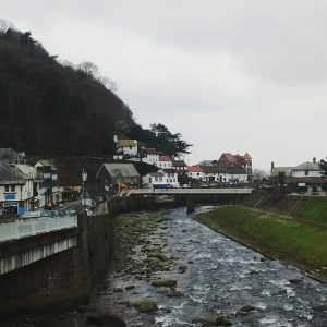 Lynmouth town and Lyn River