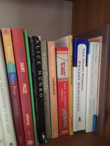 The short story volumes on my bookshelves