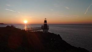 Sunset over Battery Point Lighthouse