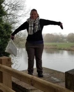Me standing over the River Wye, on one of the bridge supports.